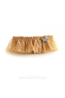 Lolita Lady Brown Lace with Imperial Crown Detailing Barrette