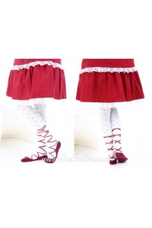 Cute Pop Personality Red Stripes Dots Lolita Knee Stockings