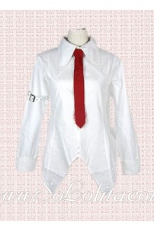 Lolita Red Tie Simple White Cotton Blouse