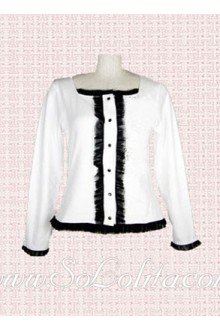 Lolita Square Collar Long Sleeve Cotton Blouse