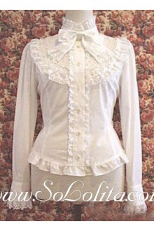 Lolita Sweet Stand Collar Biwtie New Cheap Cotton Blouse