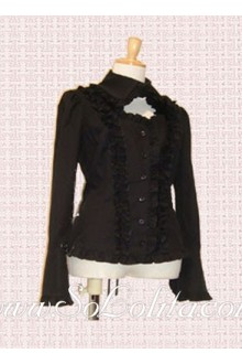 Lolita Pleat Decoration Special Collar Blouse