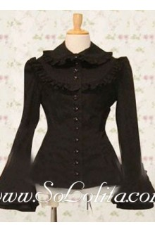 Lolita Special Trumpet Sleeves Design Cotton Blouse