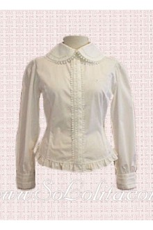 Lolita White Simple Long Sleeves Hotsale Blouse