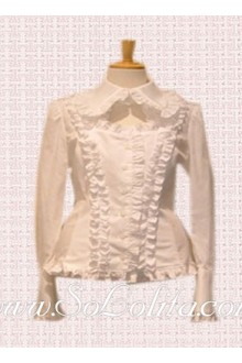 Lolita Lovely Special Design Collar Ruffle Border Blouse