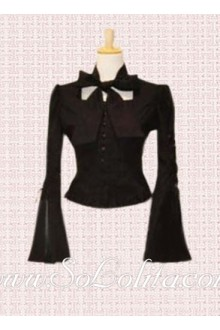 Lolita Special Design Bowtie Trumpet Sleeves Blouse
