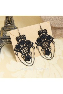 Fashion Lace Hook Flower Tassel Lolita Earring