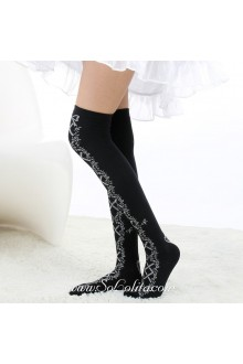 Cute Fashion Pop Thicken Slim Black Lolita Knee Stockings