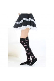 Cute Pop Fashion Gorgeous Bow Lolita Knee Stockings