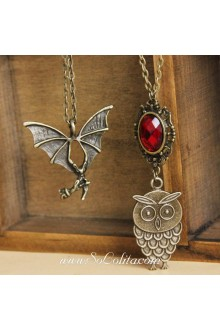Gothic Bronzed  Alloy with Gemstone Multilayer Lolita Sweater Chain