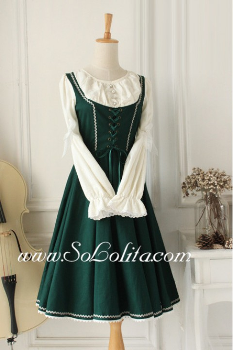 Dark Green Vintage Sweet Idyllic Classic Lolita Dress ...