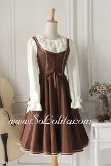 Coffee Vintage Sweet Idyllic Classic Lolita Dress