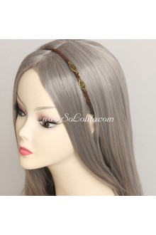 Lolita Headdress Simple Brown Velvet Rope Headband
