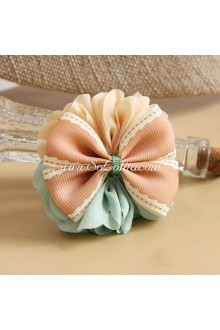 Lolita Headdress Small Fresh Pink and Green Flower Hair Rope