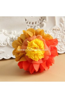 Lolita Headdress Sweet Seaside  Red and Yellow Flower Hair Rope