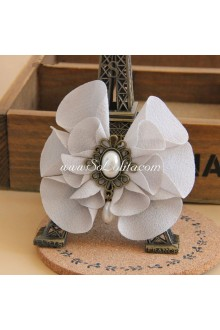 Lolita Headdress Grey Cloth Flower Hair Rope