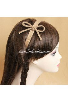 Lolita Headdress Sen Department Hemp Rope Bowknot Headband