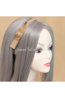 Lolita Headdress Vintage Sen Department Hemp Rope Bowknot Headband