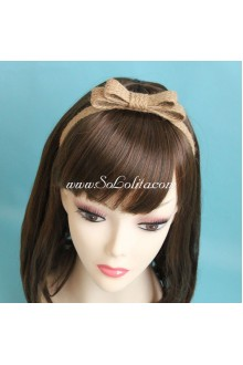 Lolita Headdress Sweet Brown Braid Bowknot Headband