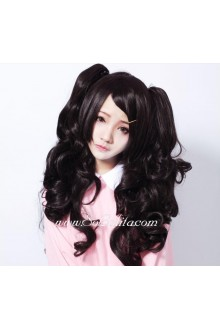 Lolita Sweet Girl black long curly Cosplay Wig