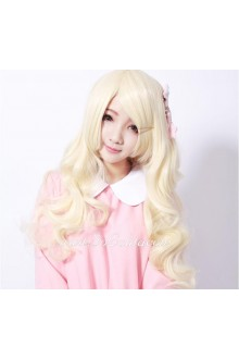 Lolita Long Golden Curly Maid Cute Cosplay Wig