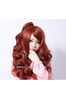 Lolita Sweetheart Red-brown Curly  Maid Cute Cosplay Wig