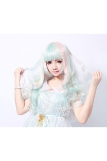 Lolita Small Fresh Multicolored Maid Cute Cosplay Wig