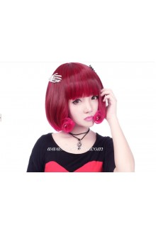 Lolita Sweet Short Red-brown Cosplay Wig