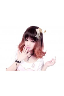 Lolita Light Brown the Ewha Head Maid Cute Cosplay Wig