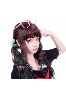 Lolita Brown and Black Mixed Maid Cute Cosplay Wig