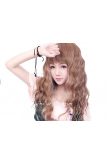 Lolita Variety of Styles Brown and Dark Green Maid Cute Cosplay Wig