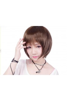 Lolita Golden Short Straight Maid Cute Cosplay Wig