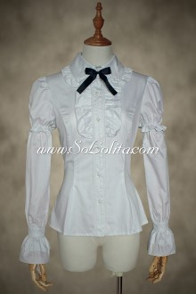 Noble Princess Plain White Lolita Blouse
