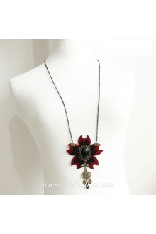 Gothic Vampire Vintage Antiques Cherry Lolita Sweater Chain