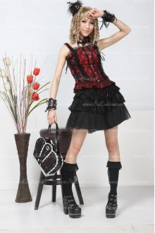 Plain Black Lace Above Knee Multilayer Lolita Skirt