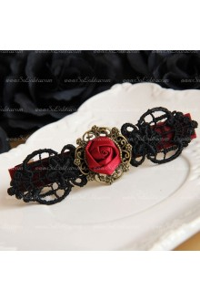 Vampire Lace Flowers Lolita Headdress Barrette