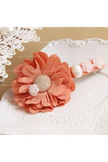 Elegant Sweet Pink Flowers Lolita Headdress Barrette
