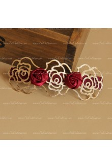 Sweet Red Rose Lolita Headdress Barrette