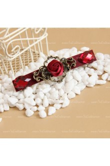 Red Roses Gem Lolita Headdress  Barrette