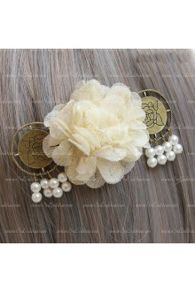 Sweet Flower Pearl Tassels Lolita Headdress Barrette