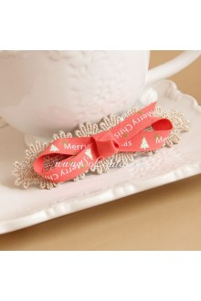 Sweet Pink Lace Bow Lolita Headdress Barrette