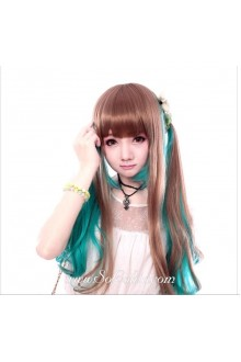 Green Brown Cute Roleplay Lolita Wig