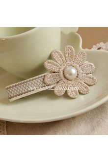 Lace Flower Pearl Lolita Headdress Barrette