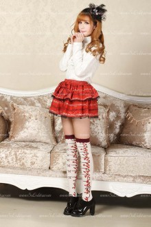 Red Short Bowknot Lolita Skirt