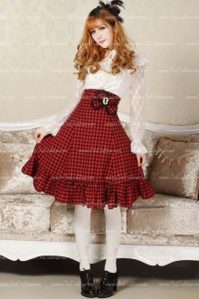 Sweet High Waist Bowknot Lolita Skirt