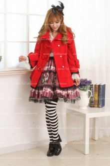 Red Princess Short Cape-style Lolita Coat