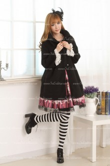 Black Princess Short Cape-style Lolita Coat