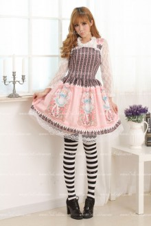 Elegant Slim Pink Sweet Lolita Dress