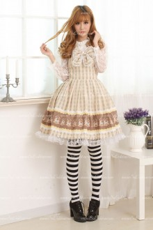 Princess Coffee Trojan Floral Sweet Lolita Dress