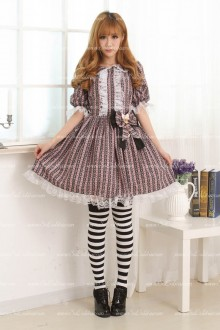 Violet Fashion Lace Trim Sweet Lolita Dress